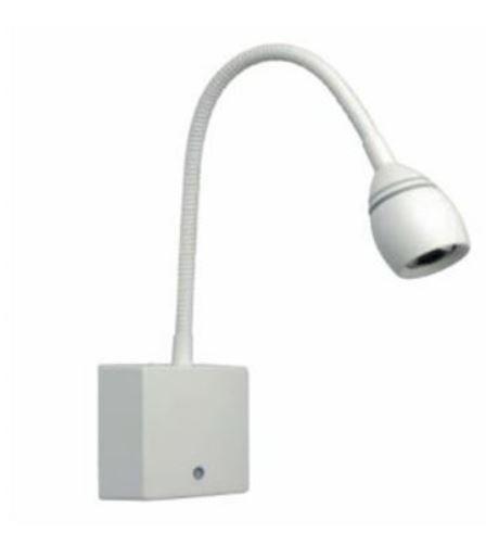 Luminária de Leitura Branca Dimerizável com USB