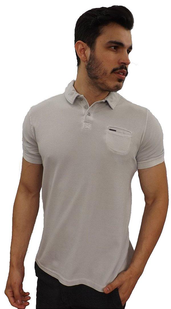 c6ed771fff Camisa Polo PoloConcept Stone Cinza - Bma Store