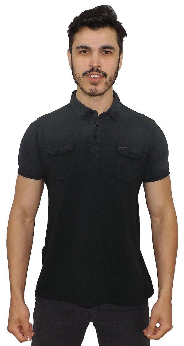 6e9762b1ed Camisa Polo PoloConcept Stone Preta - Bma Store