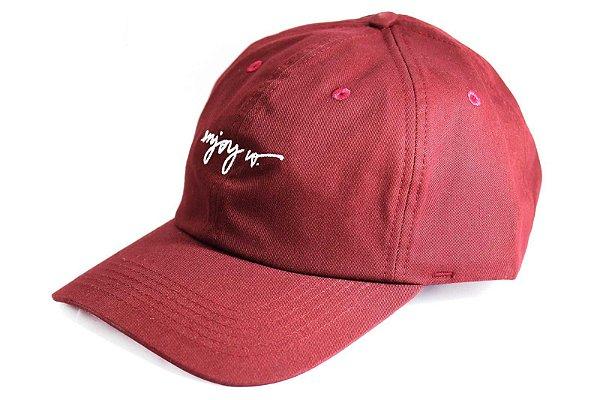 Boné Enjoy Co. Dad Hat Essencial Bordô