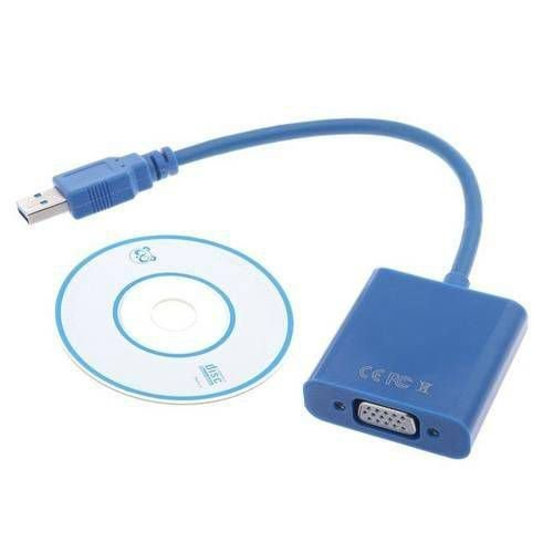 Cabo Adaptador Conversor USB 3.0 Para VGA