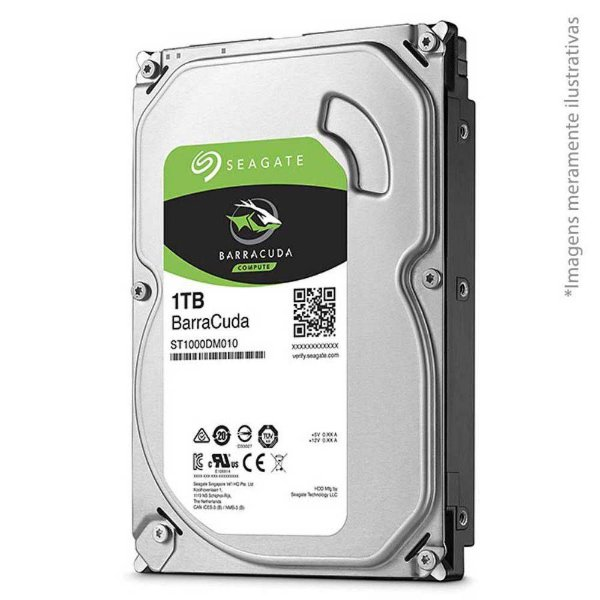 "HD PC 3.5"" SATA3 1TB Barracuda - Seagate"