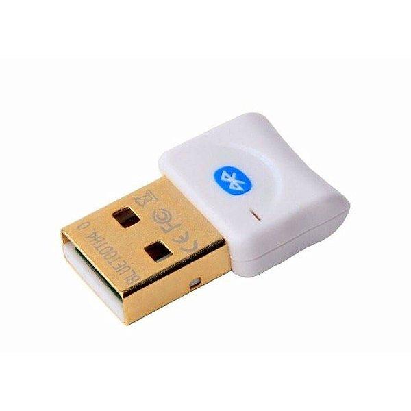 Mini Adaptador USB Bluetooth PC v4.0 Branco Dongle