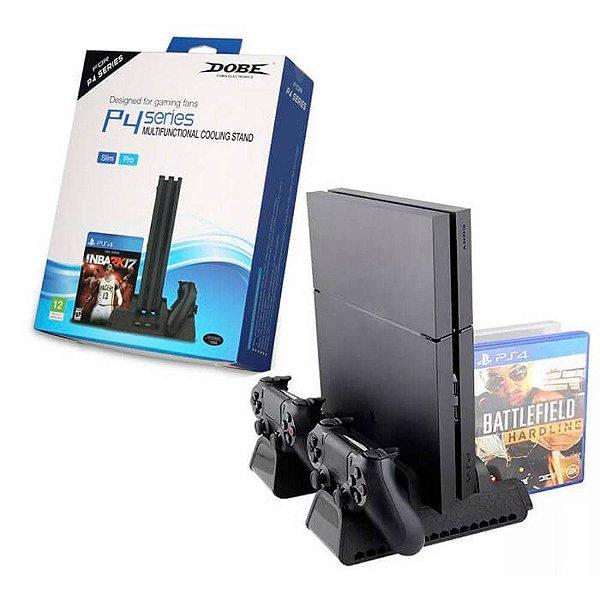 Base Multifuncional com Cooler e Carregador de Controle p/ PS4/Slim/Pro TP4-882 - Dobe