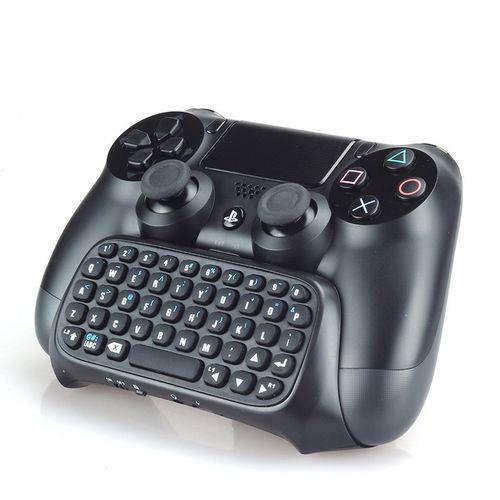 Mini Teclado Chatpad Wireless para Controle PS4 TP4-008  - Dobe