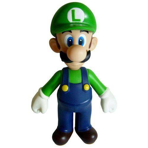 Boneco Luigi PVC 23cm - Super Mario Collection