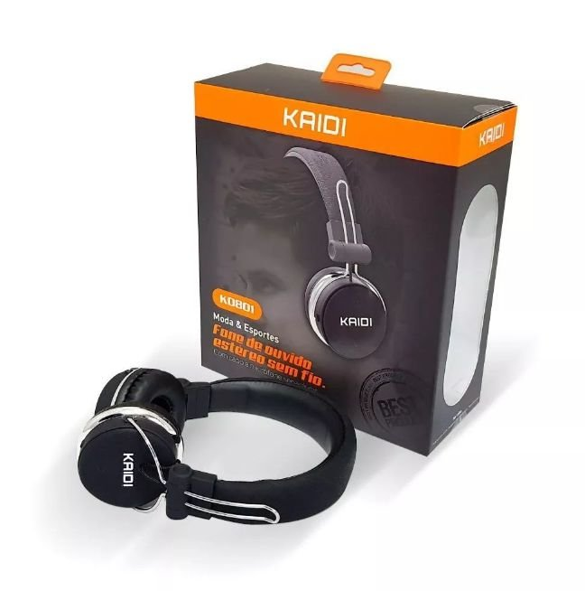 Fone de Ouvido Bluetooth Estéreo KD-801 - Kaidi