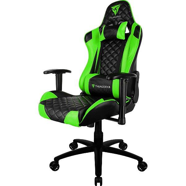 Cadeira Gamer TGC12 Preta/Verde - ThunderX3