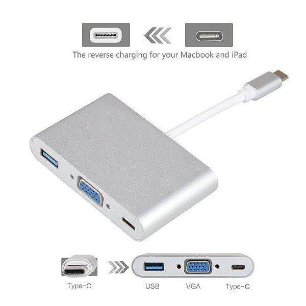 Cabo Adaptador USB 3.1 Type-C 3x1 VGA