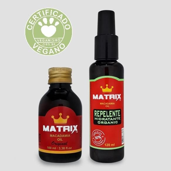 Kit Repelente Hidratante Organic 120ml + Macadamia Oil ORIGINAL 100ml