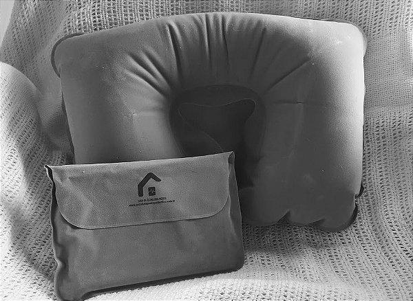 Almofada auxiliar para posicionamento de cabeça, no tratamento com estimulação magnética
