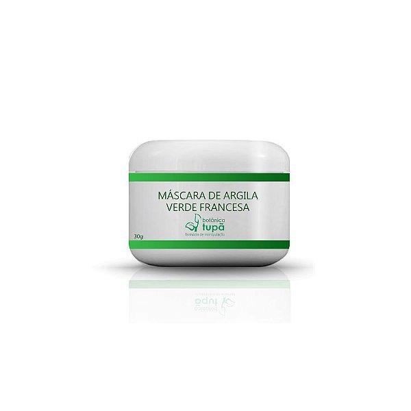 Máscara de Argila Verde Francesa - 30 gramas - Esfoliante
