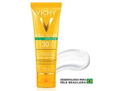 Protetor Solar Vichy Idéal Soleil Antiacne FPS 30