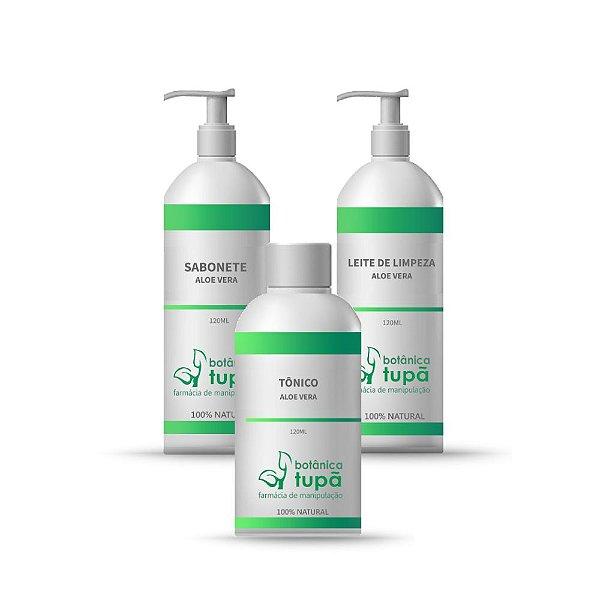 Limpeza Facial Completa - Aloe Vera - Todos os Tipos de Pele