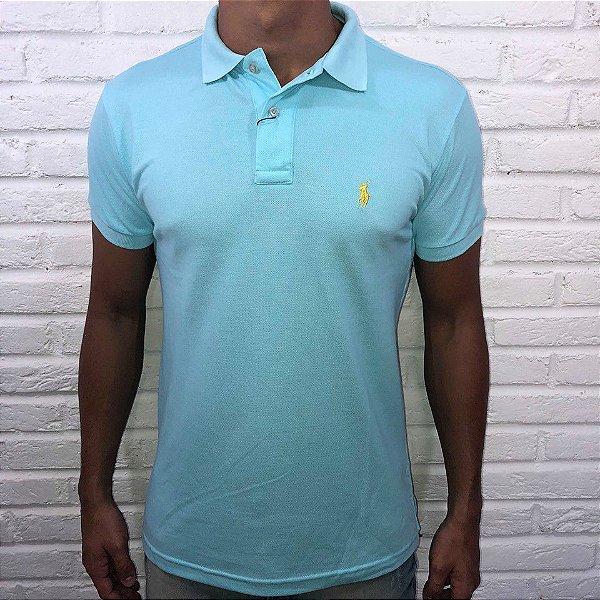 a751f0e55c2e9 Camisa Polo Masculina Ralph Lauren Azul