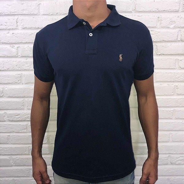 57ef64b6b Camisa Polo Masculina Ralph Lauren Marinho
