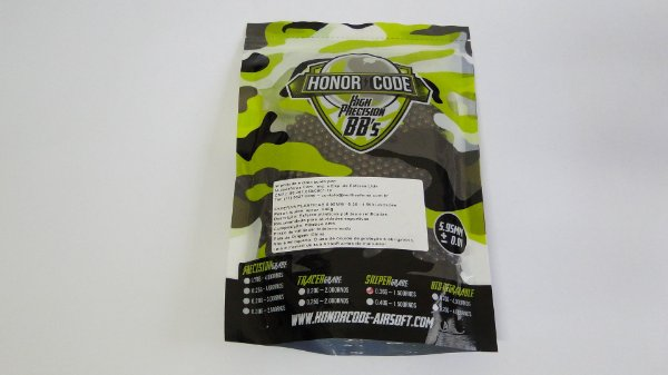 BBs para Airsoft Honor Code Precision 0.36g - 1.500un
