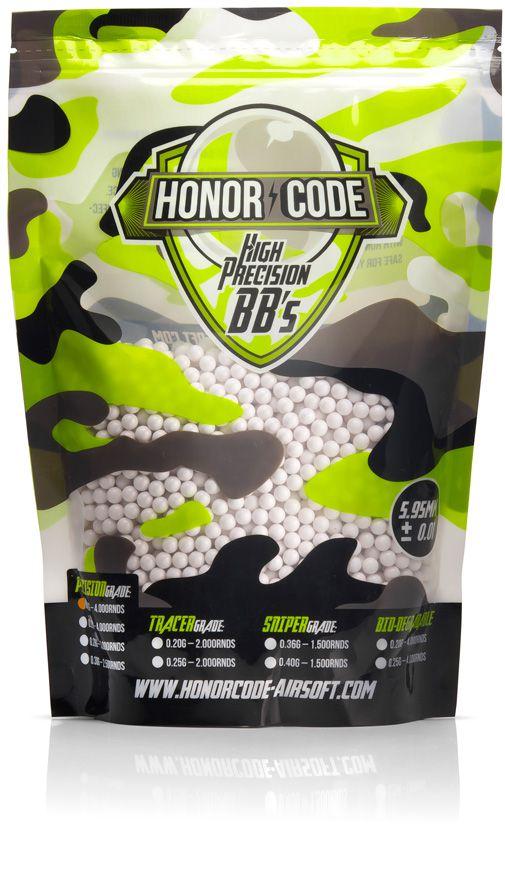 BBs para Airsoft Honor Code Precision 0.30g - Branca 2.500un