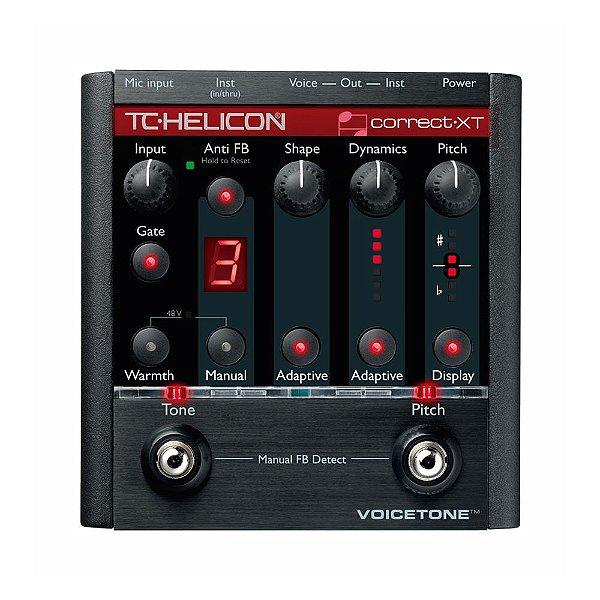 Corretor auto-cromático de Voz Voicetone TC Helicon Correct XT