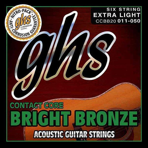 Encordoamento para Violão de Aço GHS S305 Ultralight Phospor Bronze