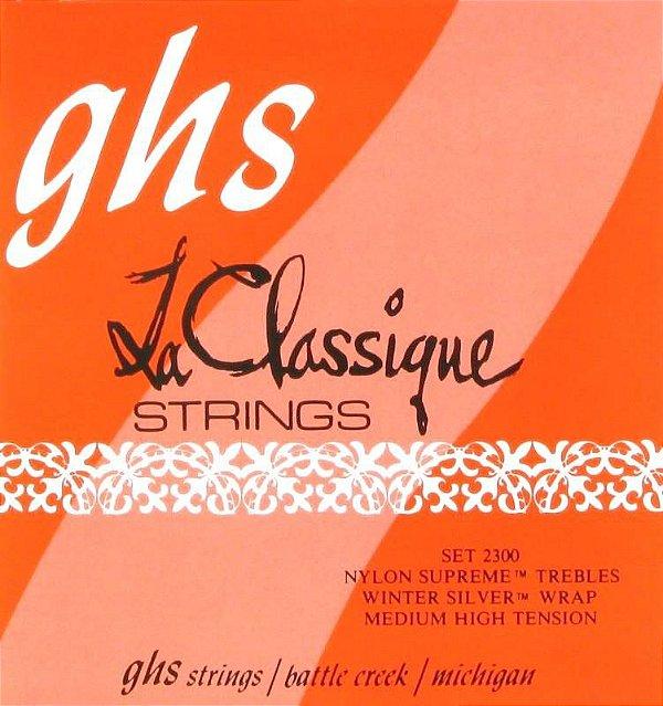 Encordoamento para Violão Nylon GHS 2300 Medium High Série La Classique (Nylon Supreme)