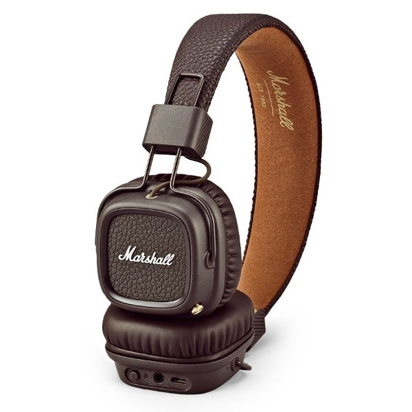 Fone de ouvido Marshall Major II Bluetooth Brown