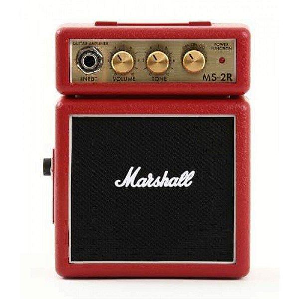 Micro Amplificador Marshall MS-2R-E Combo para Guitarra Vermelho
