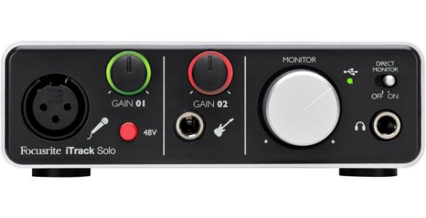 Interface de Áudio Focusrite iTrack Solo USB e Lightning