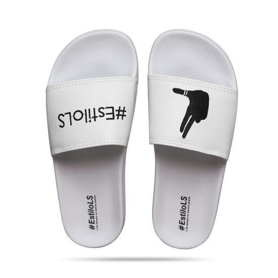 Chinelo Slide Com Logo Bordado