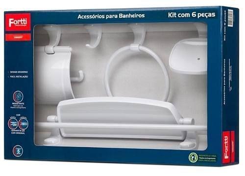 Kit De Acessórios P/banheiro Com 6 Pçs - Fortti - Lorenzetti - Garantia 5 anos!!!