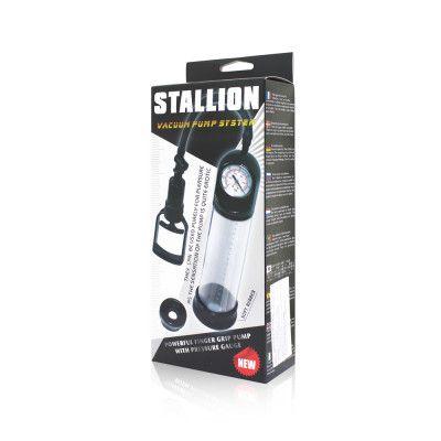 Bomba Masculina Stallion com Manômetro