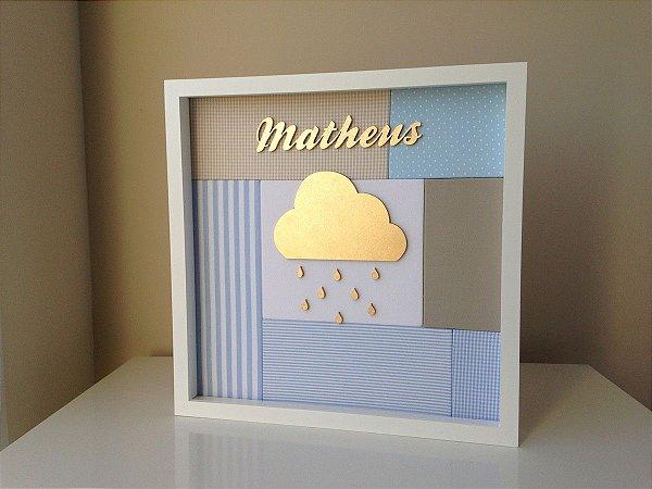 Porta de Maternidade Nuvem com Fundo em Patchwork