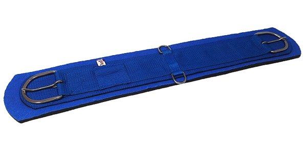 Barrigueira de Neoprene Importada Reta com Inox Azul Red Dust