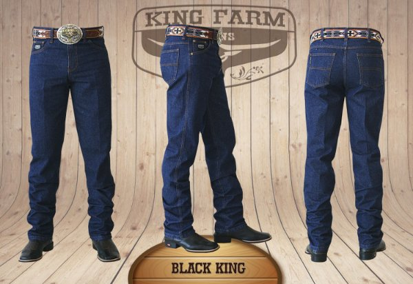 Calça Jeans Masculina Country Escura Black King Original King Farm