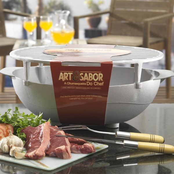 Churrasqueira Portátil do chef Art & Sabor