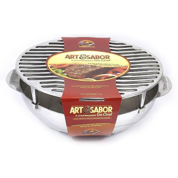 Churrasqueira Portátil do chef Art & Sabor - POLIDA