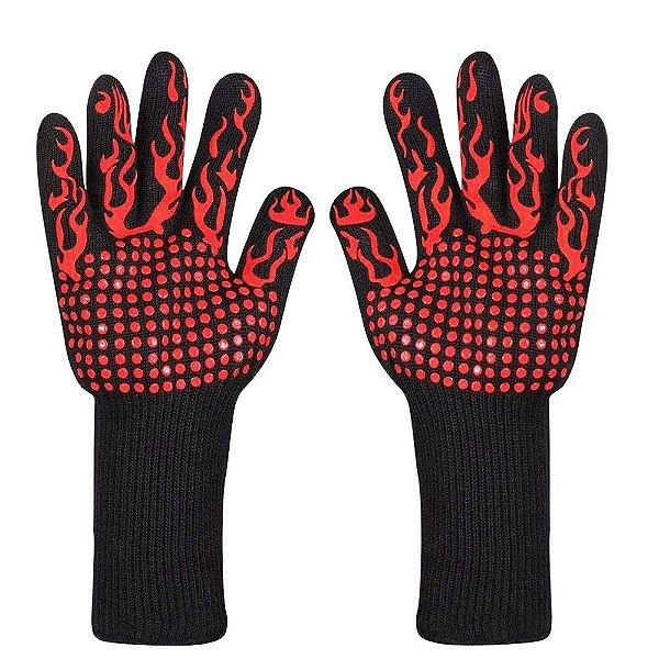 Par De Luva Alta Temperatura 500ºc - Churrasco - Bbq Gloves