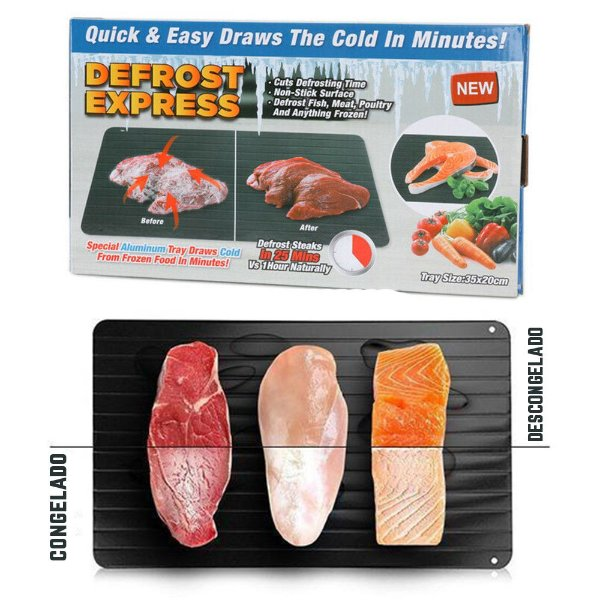 Tábua Descongelamento Rápido De Carnes E Alimentos - Defrost Express
