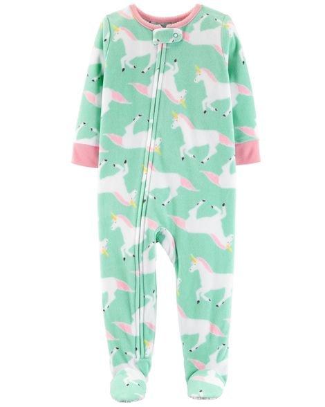 Pijama  carters manga longa com pezinho  Carters Unicorn
