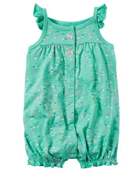 Romper Carte'rs Dino Snap-Up Cotton