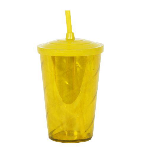Copo Euphoria Twister 700ml - Amarelo Neon