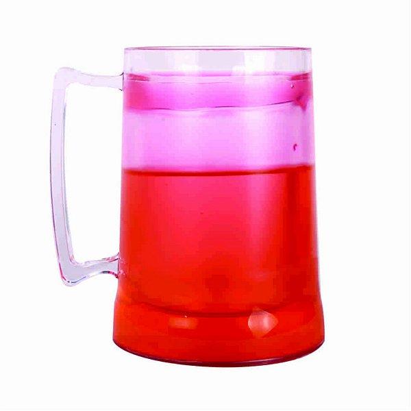 Caneca de Chopp com Gel 300ml - Vermelho