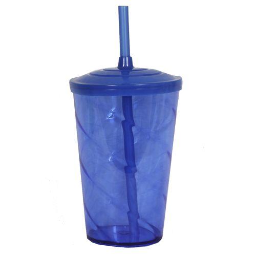 Copo Euphoria Twister 700ml - Azul Neon