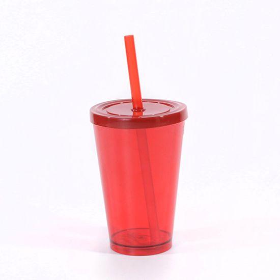 Copo Happy 350ml - Vermelho Neon