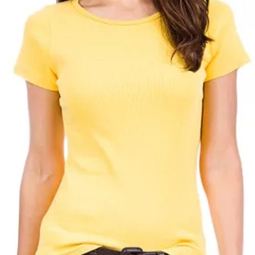 Baby Look Feminina - Amarelo Claro