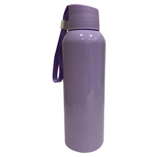 Squeezer Plástico 500ml com Cordão - Lilás Claro