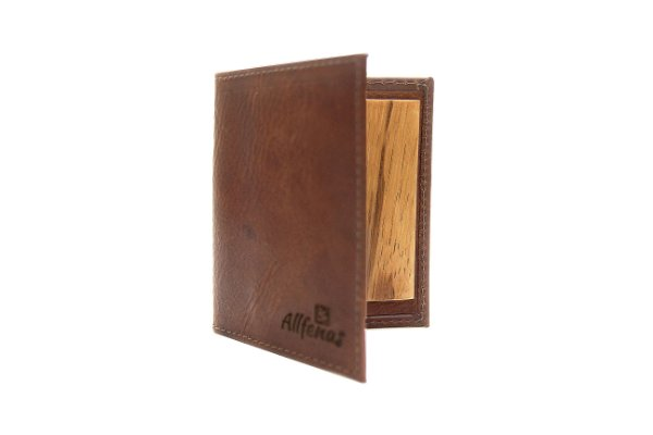 Carteira Wood Slim -  Coffee