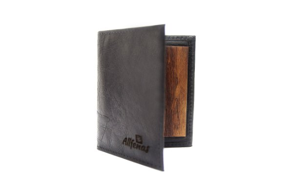 Carteira Wood Slim -  Black