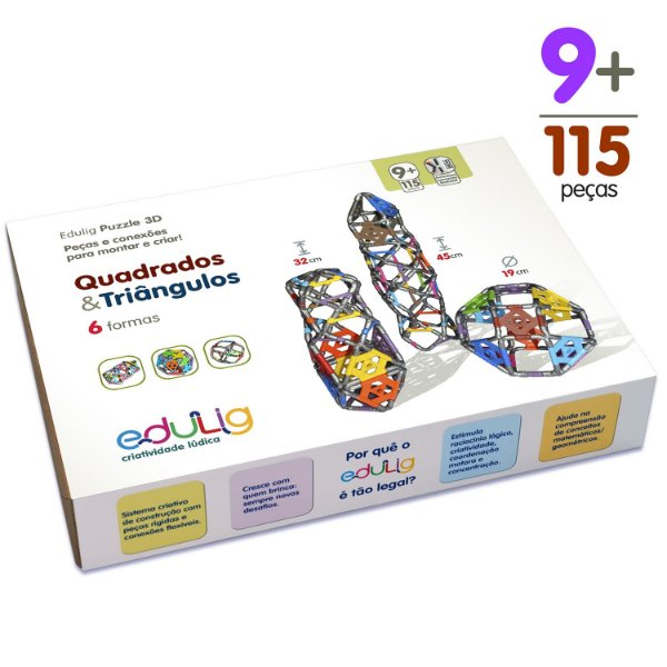 Kit Edulig Quadrados e Triângulos