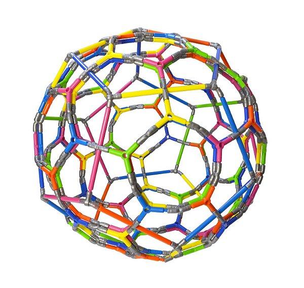 Quebra-cabeça Edulig Puzzle 3D - Esfera - 286 peças e conexões - 6 cores - Edulig